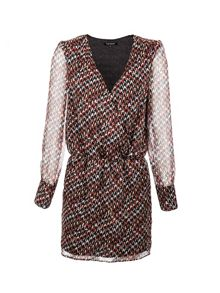 Morgan Houndstooth Printed Wrap Dress
