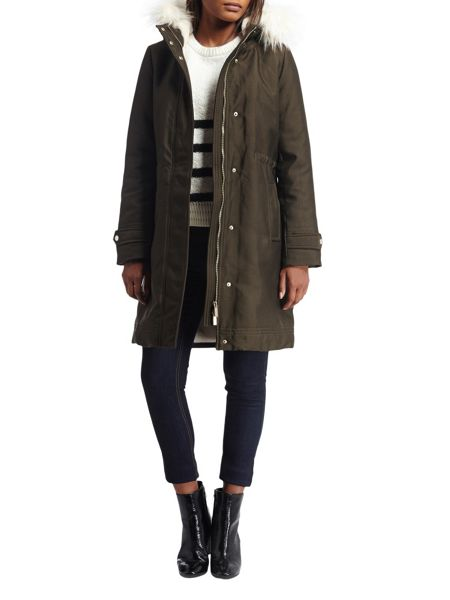Morgan Hooded Quilted Parka