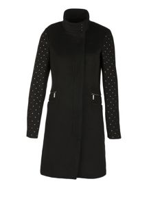 Morgan Wool Mixed Studded Coat