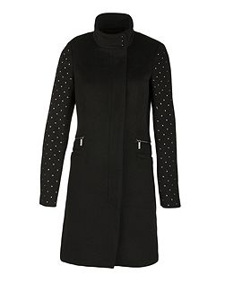 Wool Mixed Studded Coat