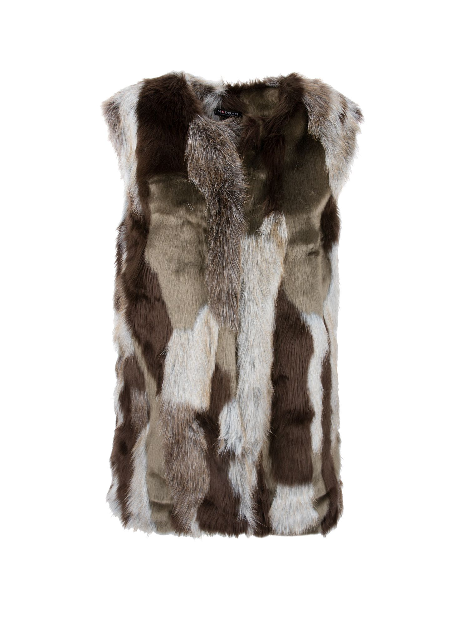 Morgan Faux Fur Jacket, Multi-Coloured