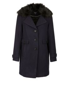 Morgan Wool And Cotton Mix Coat