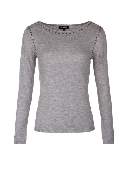 Morgan Mixed wool studded jumper