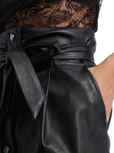 Morgan Faux Leather High Waisted Skirt