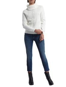 Morgan Rings Embellished Cable Knit Jumper