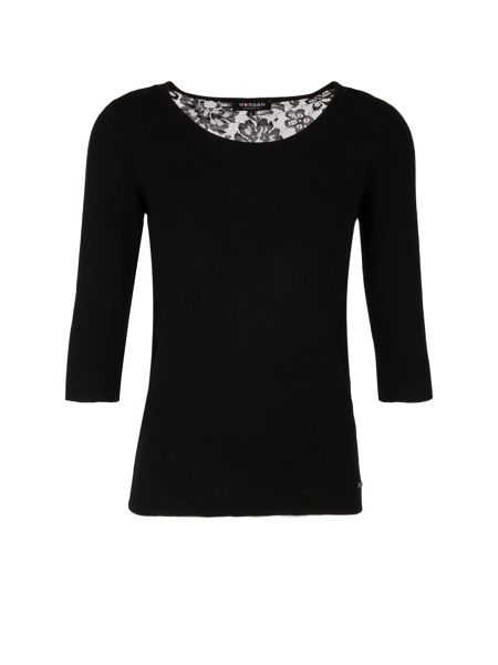 Morgan Knit And Lace Jumper