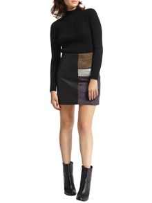 Morgan Colorblock Mini Skirt