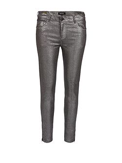Glittery Coated 7/8 Slim Jeans