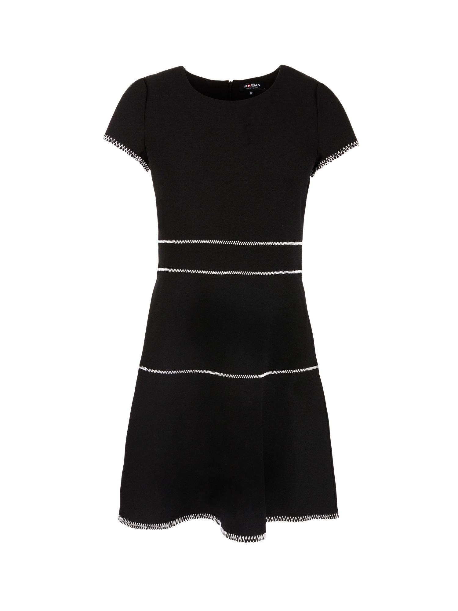 Morgan Overstitchings Crepe Dress, Black