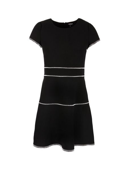 Morgan Overstitchings Crepe Dress
