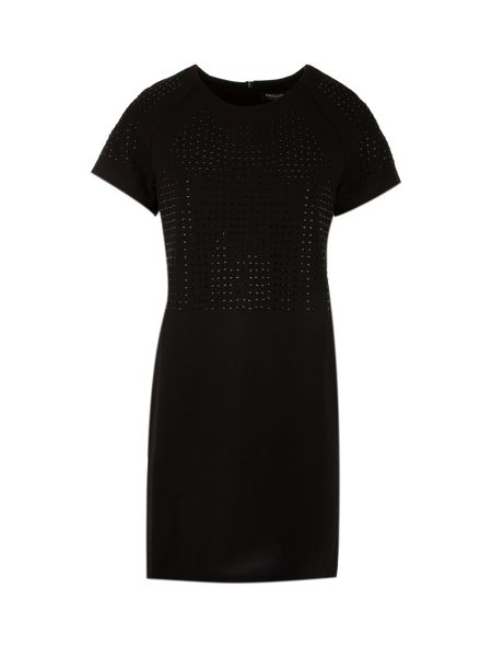 Morgan Studded jersey dress