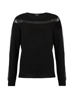 Textured Openwork Knit Jumper