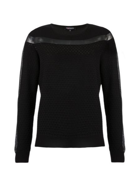 Morgan Textured Openwork Knit Jumper