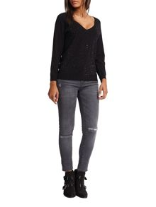 Morgan Diamante Embellished Jumper