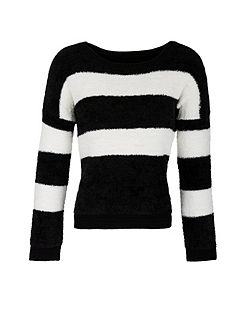Two-Tone Mohair Touch Jumper