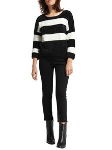 Morgan Two-Tone Mohair Touch Jumper