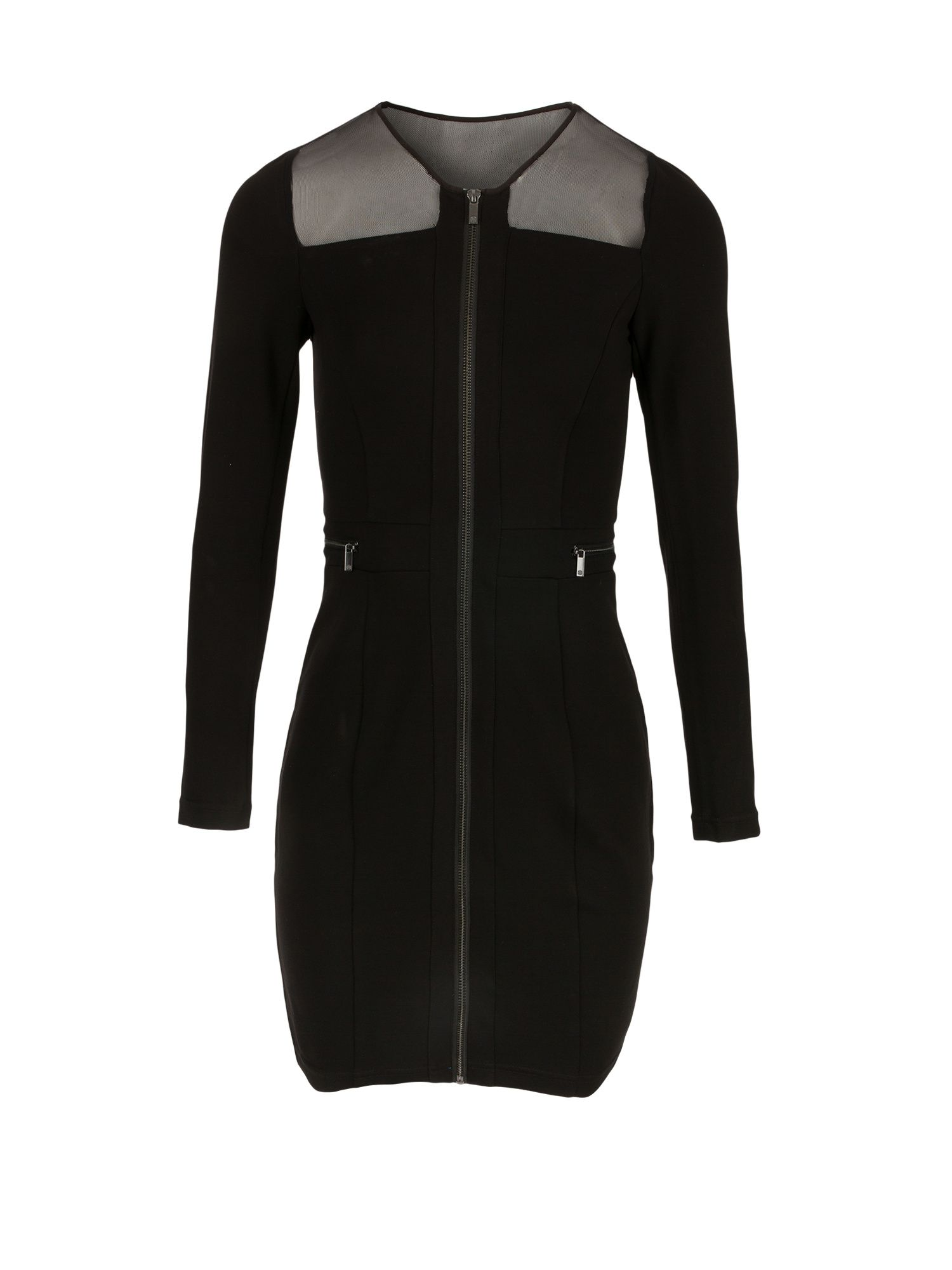 Morgan Milano Knit Zipped Dress, Black