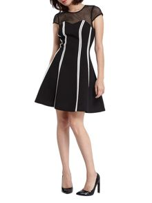 Morgan Contrasting Paneled Dress