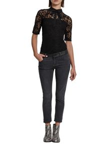 Morgan Lavalliere Tie Lace Top