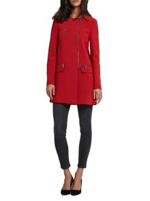 Morgan Crepe Straight Fit Coat