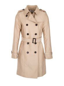 Morgan Cotton Mix Gabardine Trench Coat