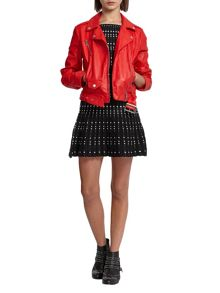 Morgan Faux Leather Biker Style Jacket