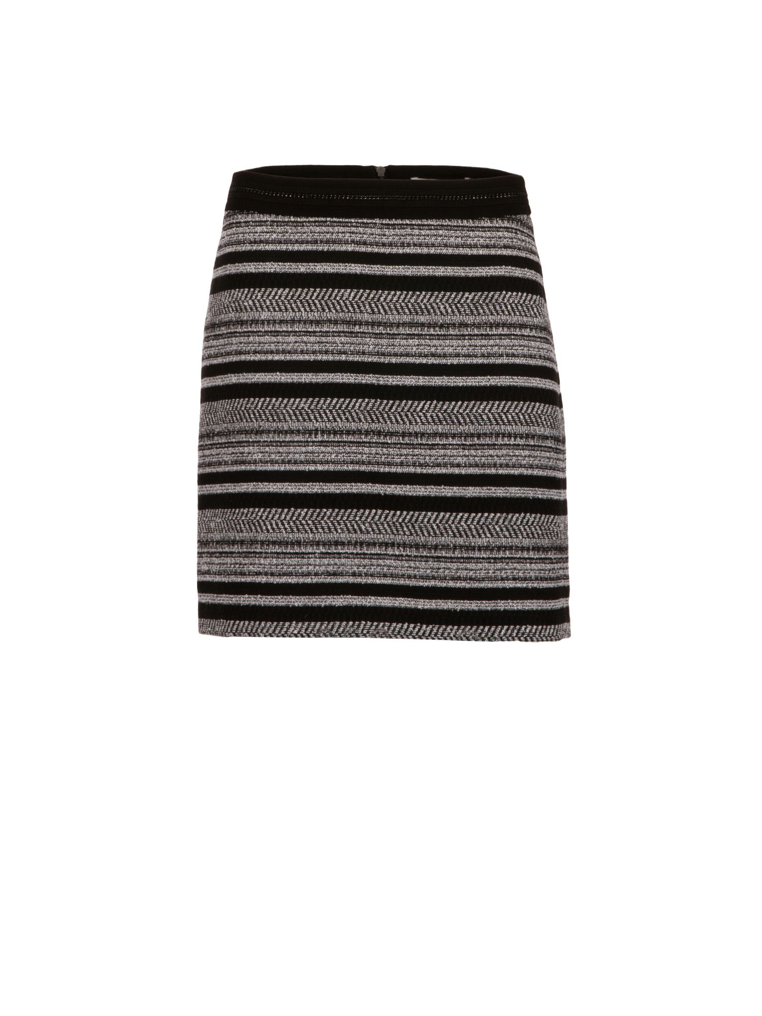 Morgan Two-Tone Jacquard Mini Skirt, Black Multi