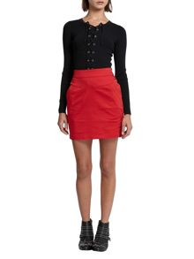 Morgan Cotton Twill Mini Skirt