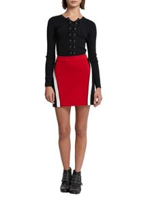 Morgan Colorblock Knit Mini Skirt
