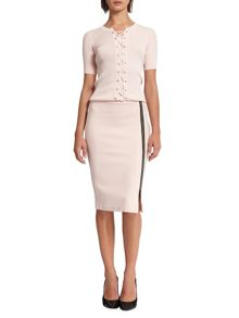 Morgan Asymmetrical Zip Pencil Skirt