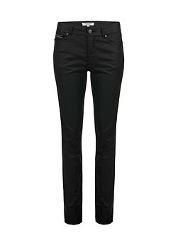 Coated Straight Fit Jeans