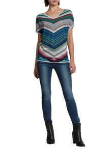 Morgan Striped Crochet Knit Jumper