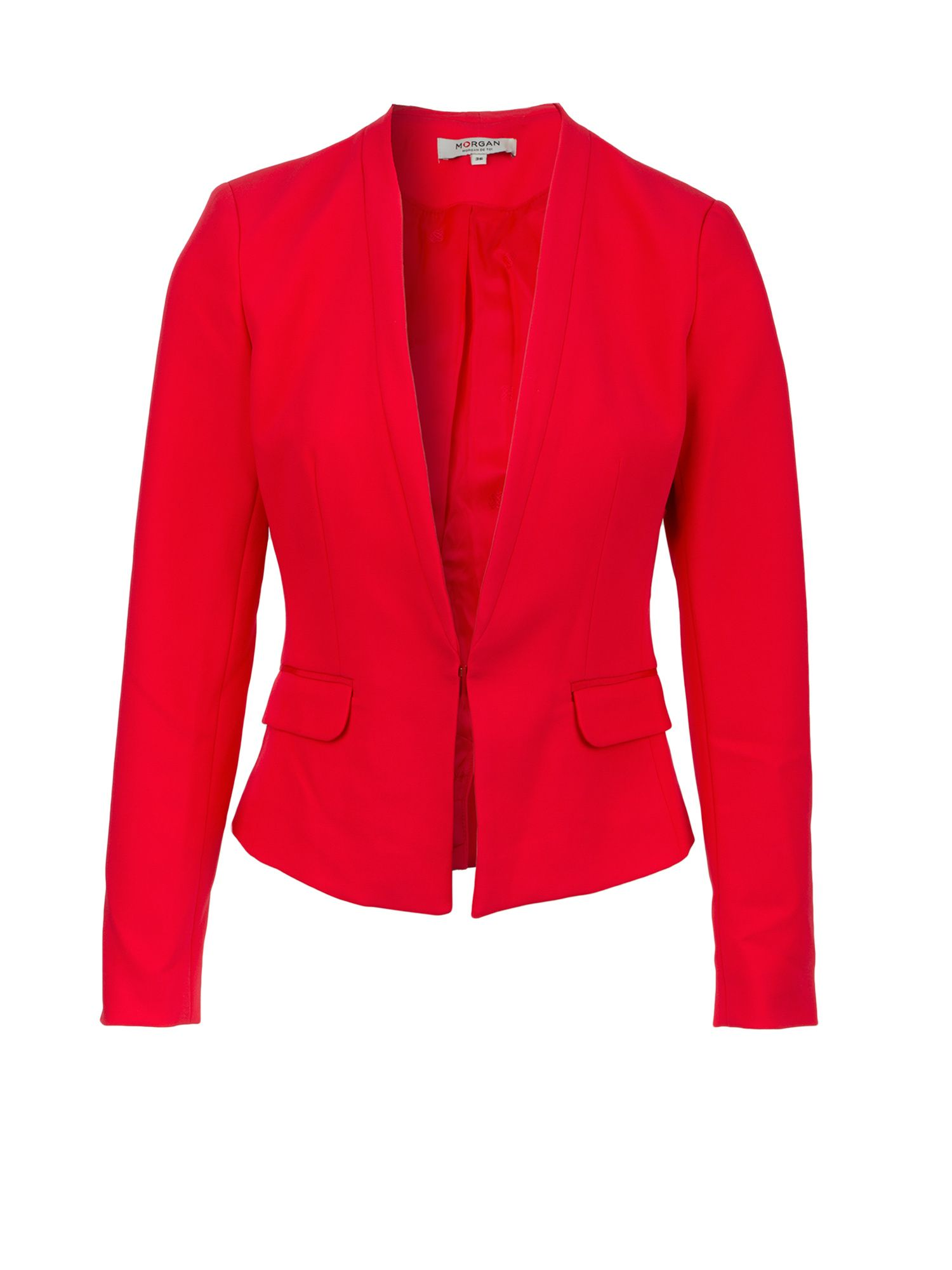 Morgan Sergé Fitted Jacket, Hot Pink