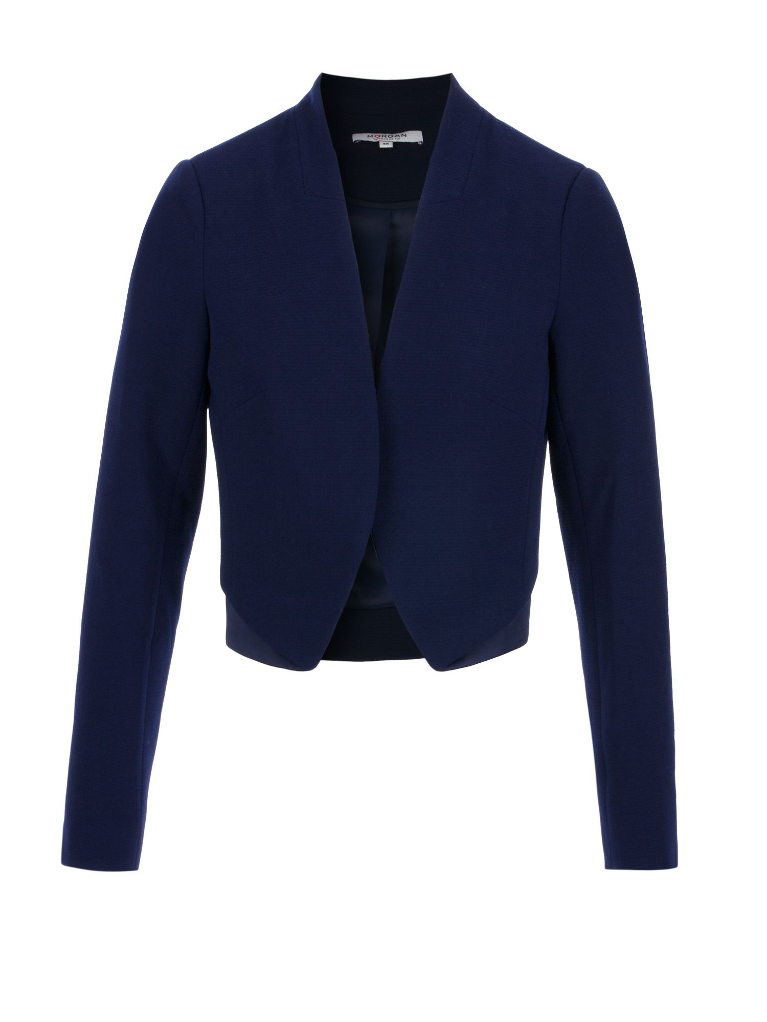 Morgan Satin Paneled Bolero Jacket, Blue