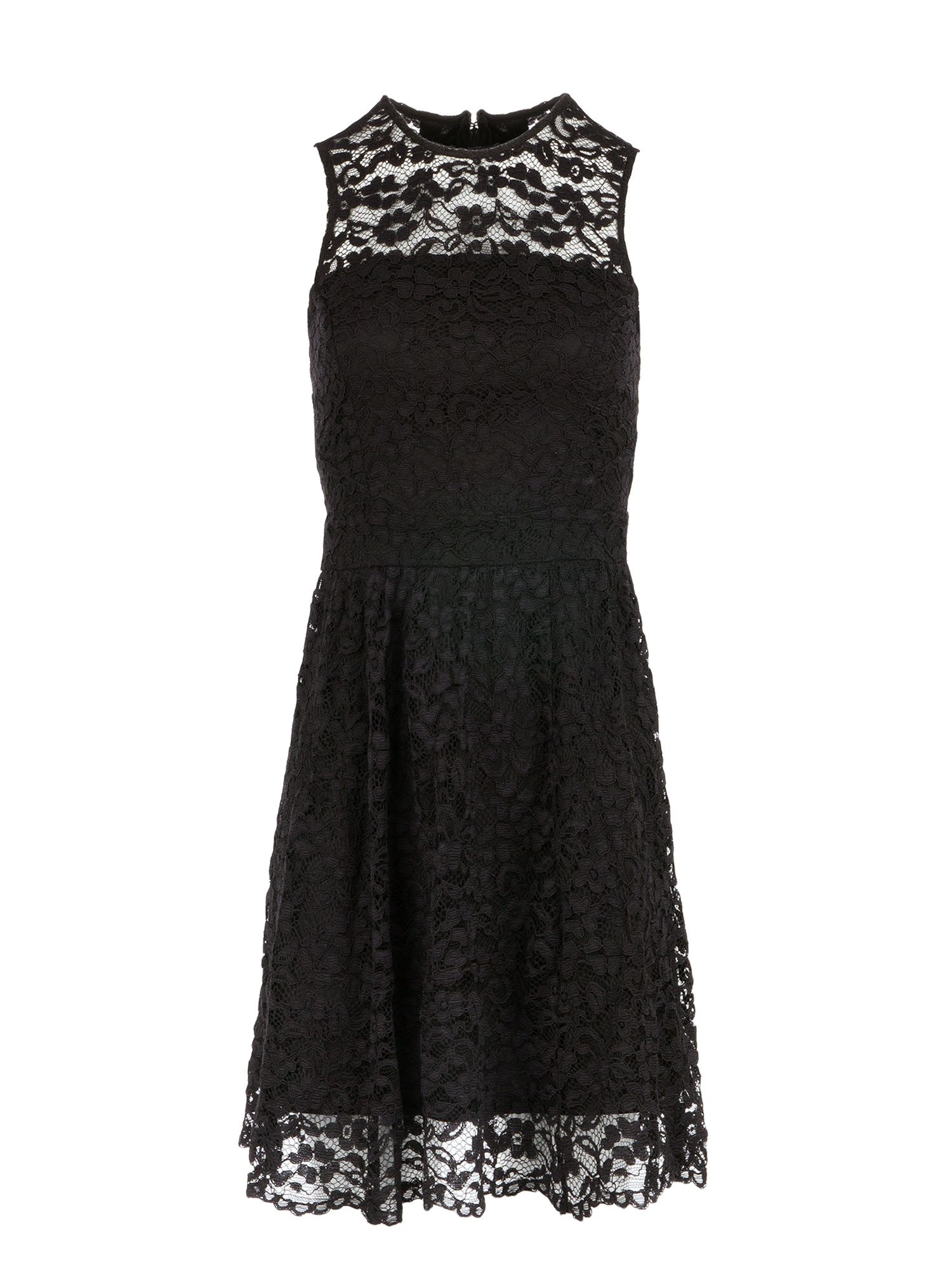 Morgan Lace Sleeveless Dress, Black
