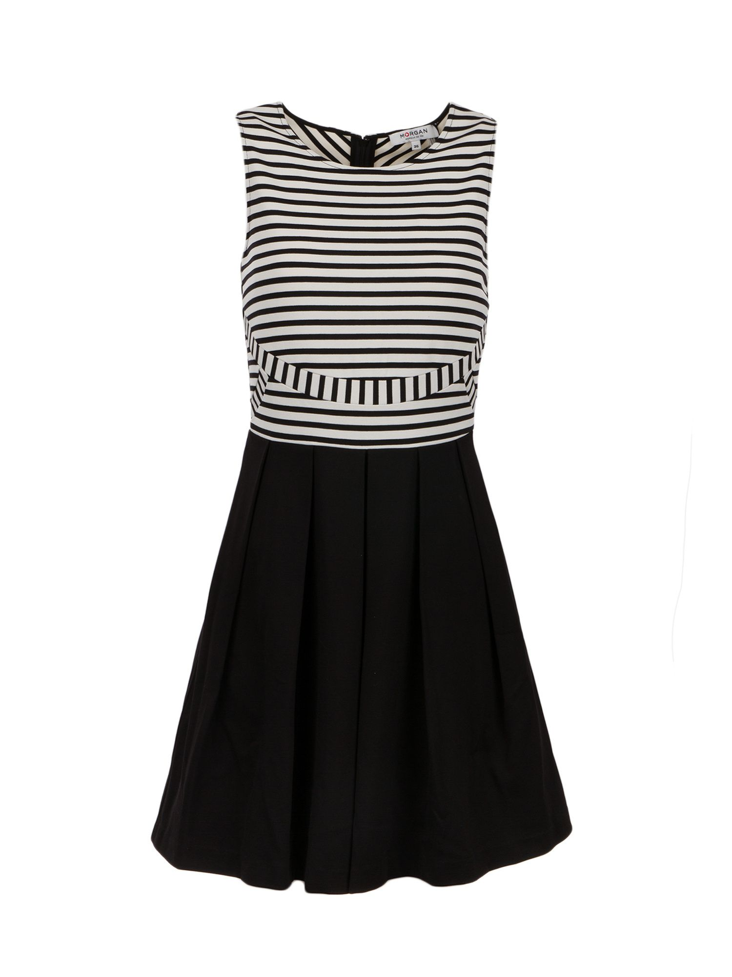 Morgan Striped Stretch Knit Dress, Black