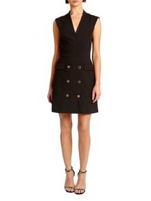 Morgan Gold Buttons Tuxedo Dress