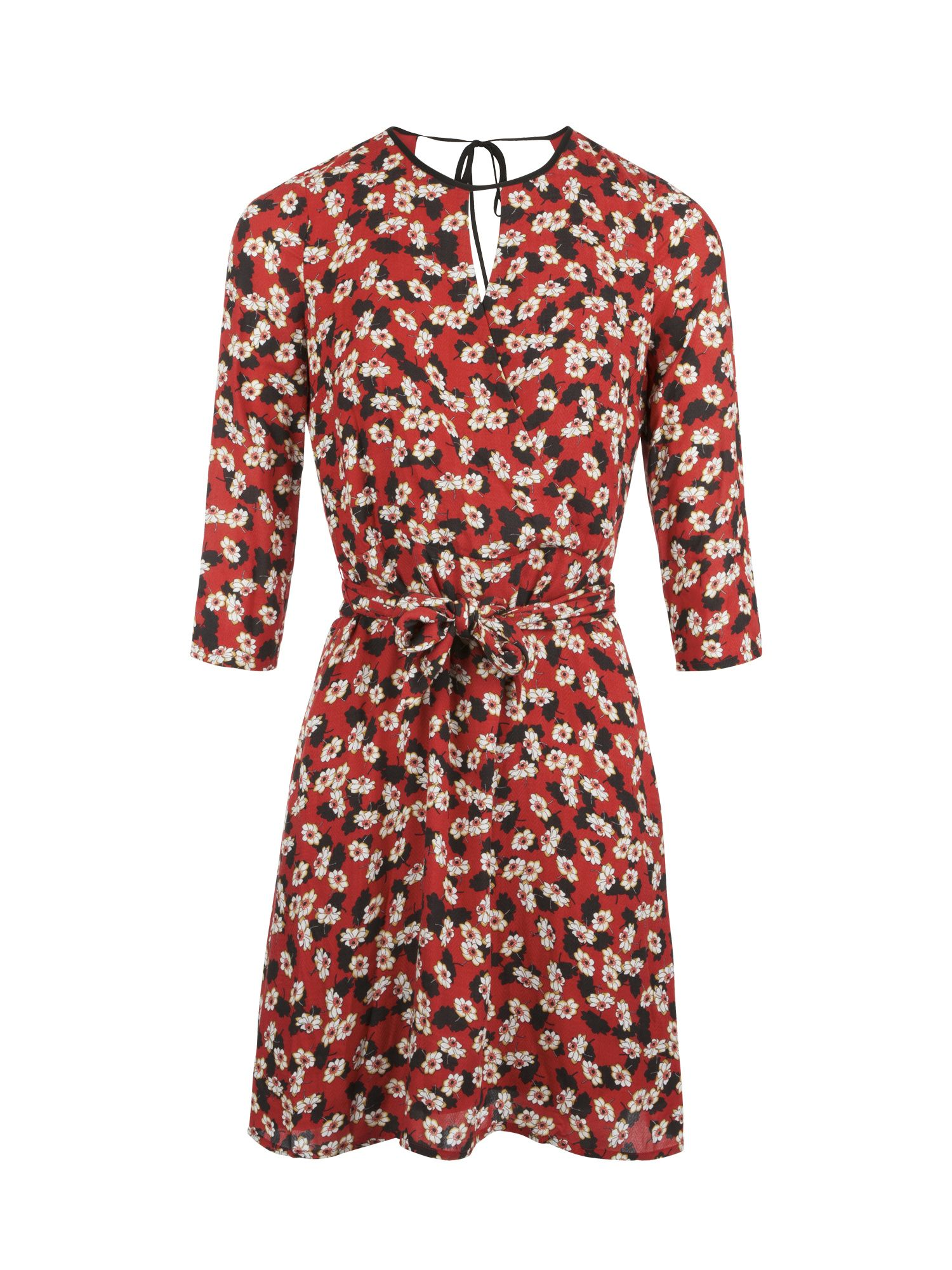 Morgan Floral Print Dress With Cut-Outs, Rust