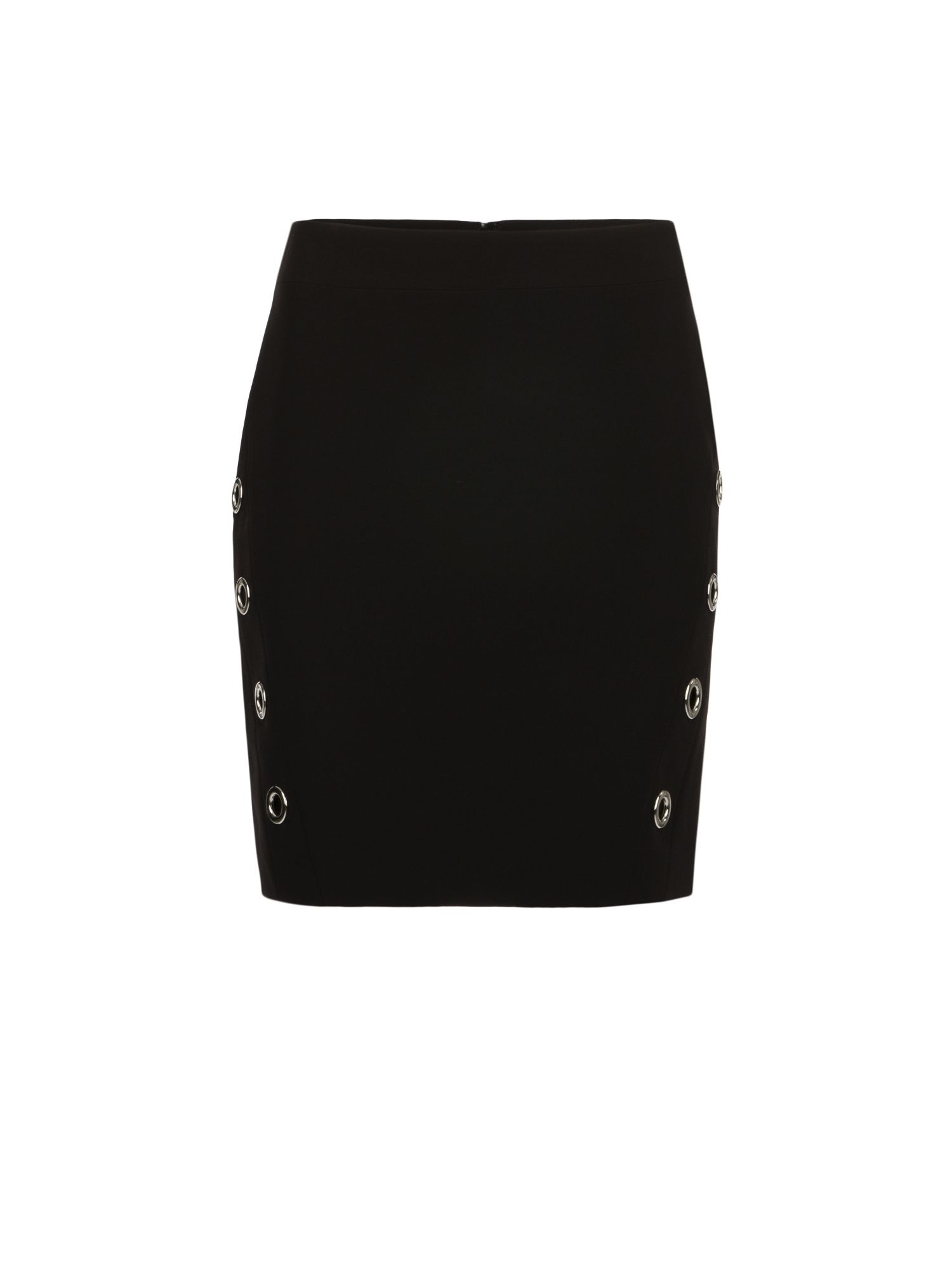 Morgan Miniskirt With Eyelets, Black