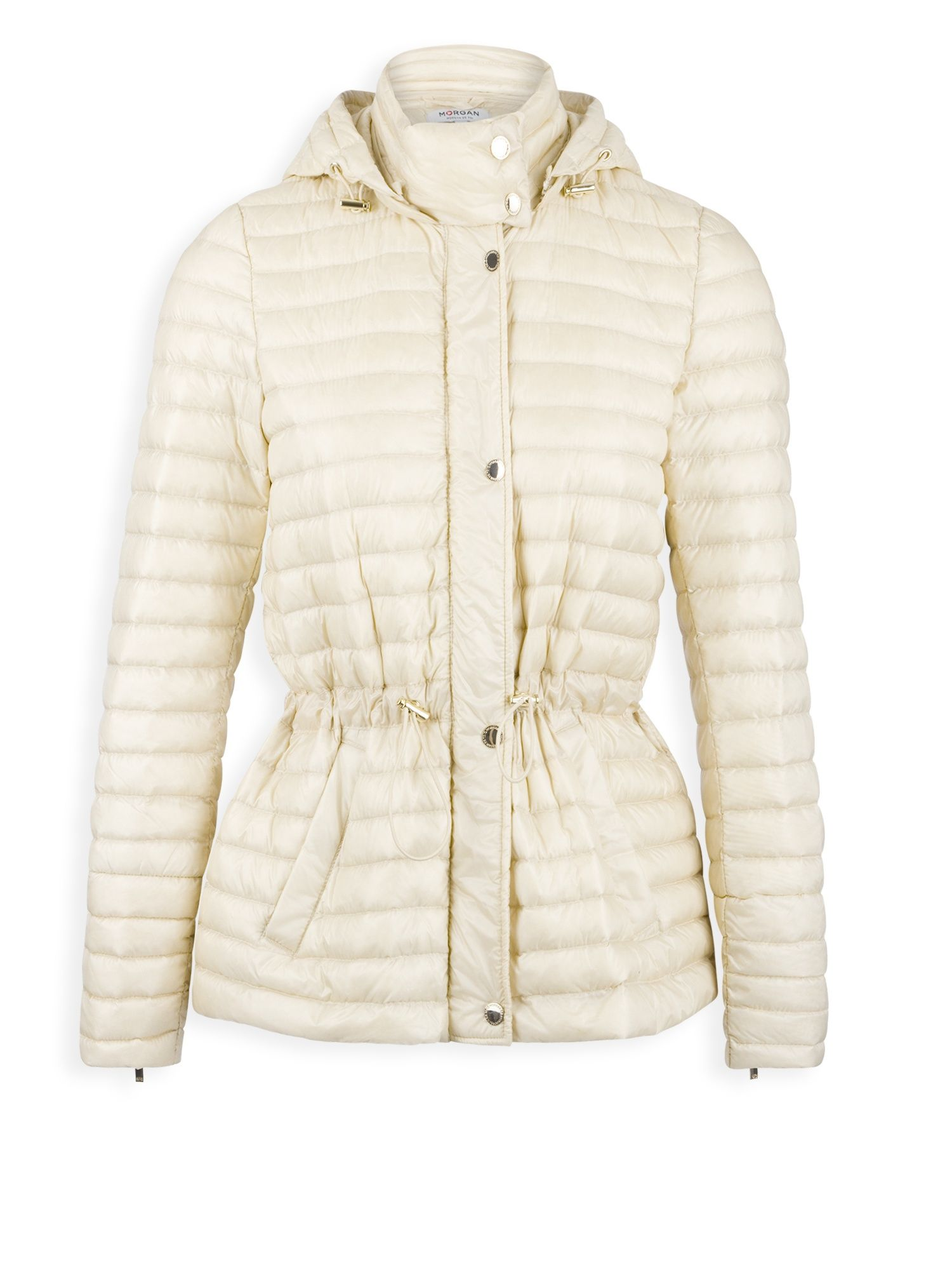 Morgan Light Quilted Down Jacket, White