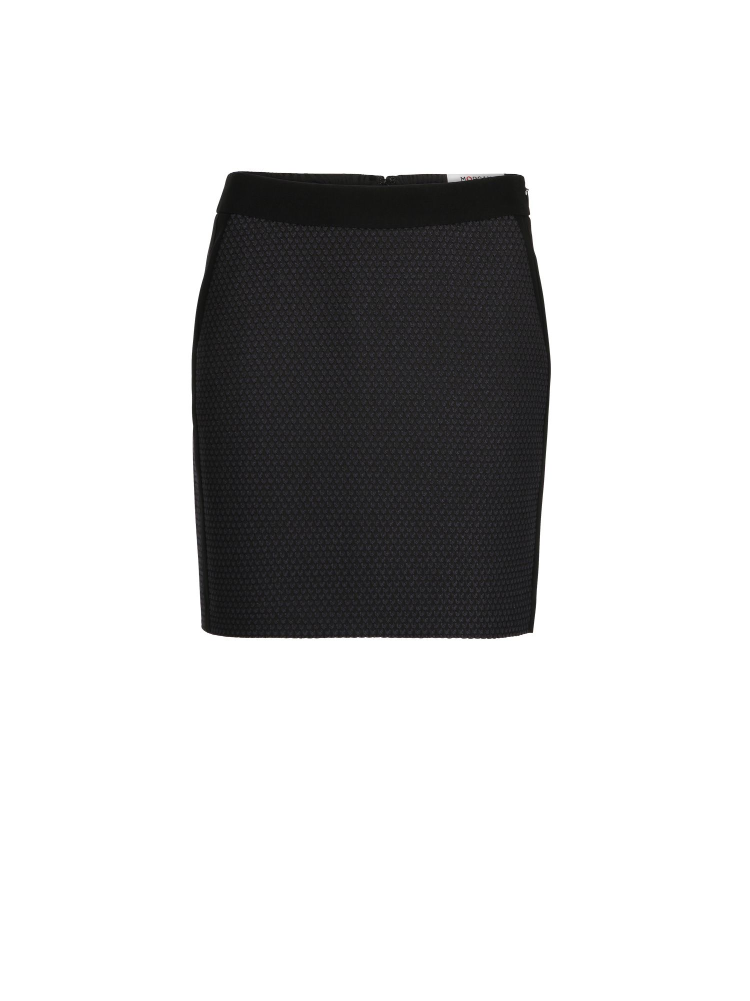Morgan Miniskirt In Textured Jacquard Knit, Blue