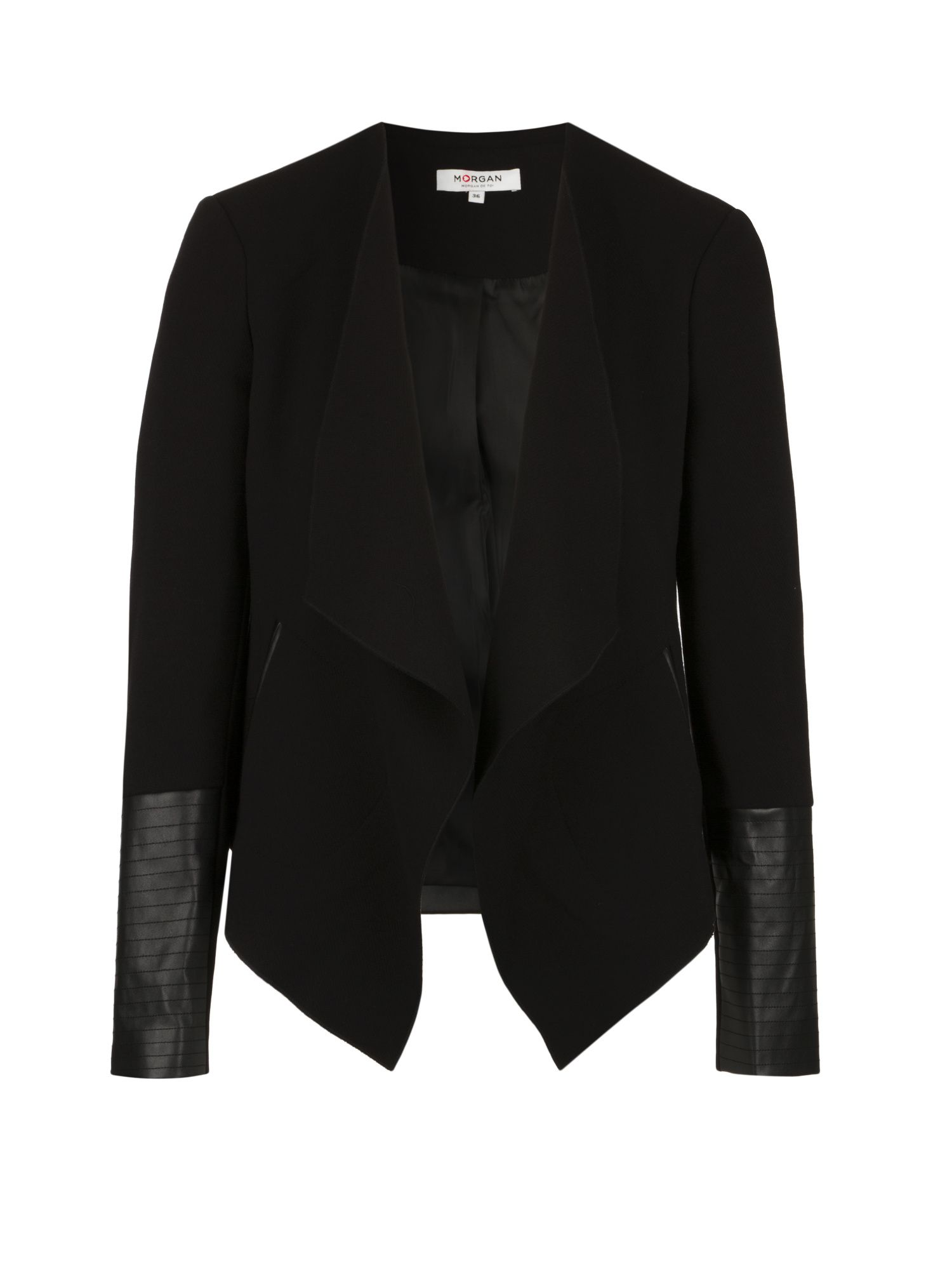 Morgan Jacket With Asymmetrical Lapels, Black