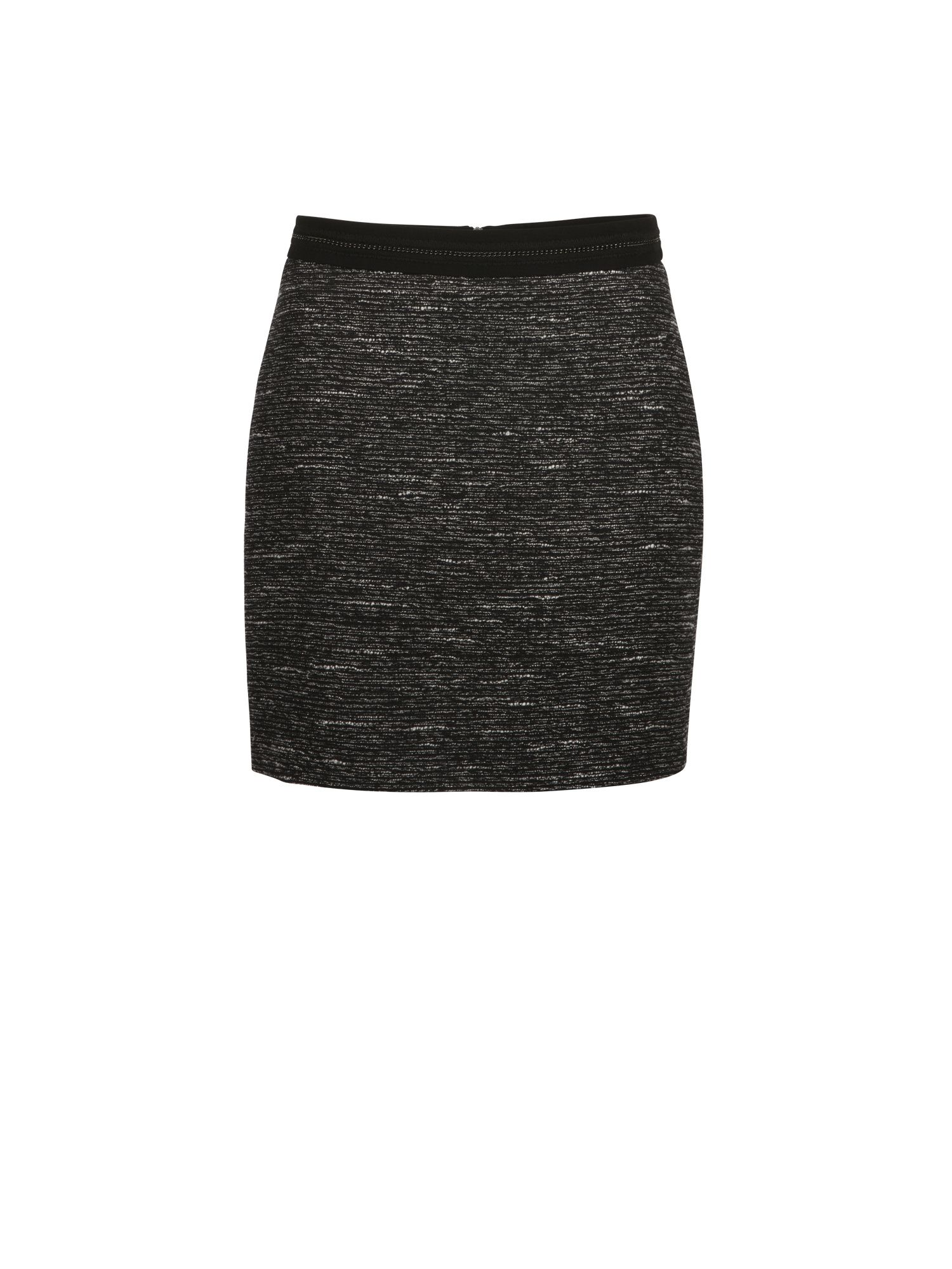 Morgan Jacquard Textured Knit Miniskirt, Black