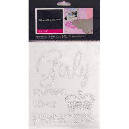Graham & Brown Silver Girly Adhesive Jewels