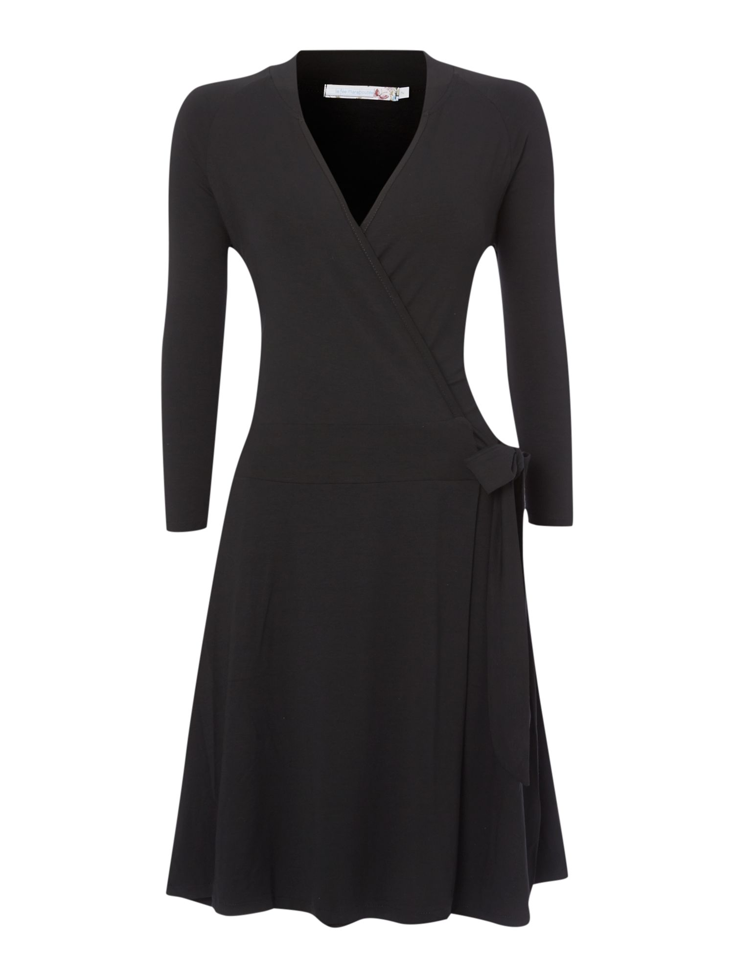 Long-sleeved wrap dress