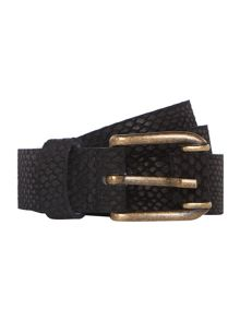 Crocodile print belt