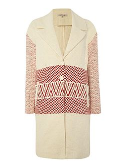 La Fee Maraboutee Long-sleeved coat, tailored collar