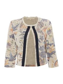 La Fee Maraboutee Floral print jacket with 3/4 sleeves