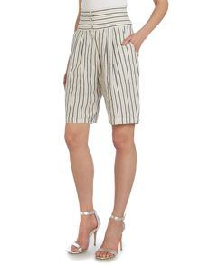 La Fee Maraboutee Wide striped shorts