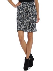 Wraparound Skirt Geometric Print